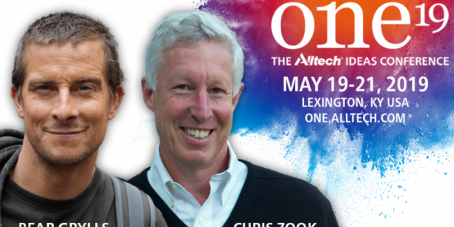 Bear Grylls, Chris Zook to take mainstage at ONE: The Alltech Ideas Conference