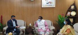খাদ্যমন্ত্রীর সঙ্গে ভারতীয় হাইকমিশনারের সাক্ষাৎ